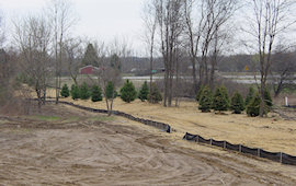 Erosion Control Blanket and Silt Fence