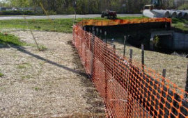 Wireback Silt Fence with Safety Fence