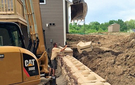 Redi Rock Retaining Wall